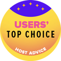 מוענק ל-10 חברות אירוח האתרים המובילות עם דירוג המשתמשים הגבוה ביותר.